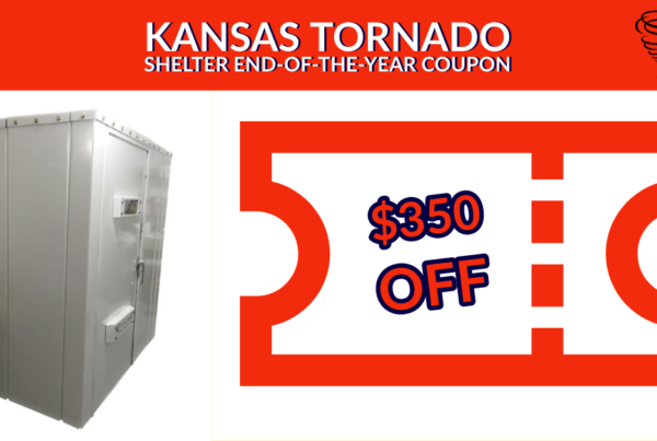 Kansas Tornado Shelter End-of-the-Year Coupon