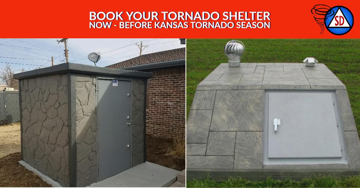 Book your Tornado Shelter Now - Before Kansas Tornado Season